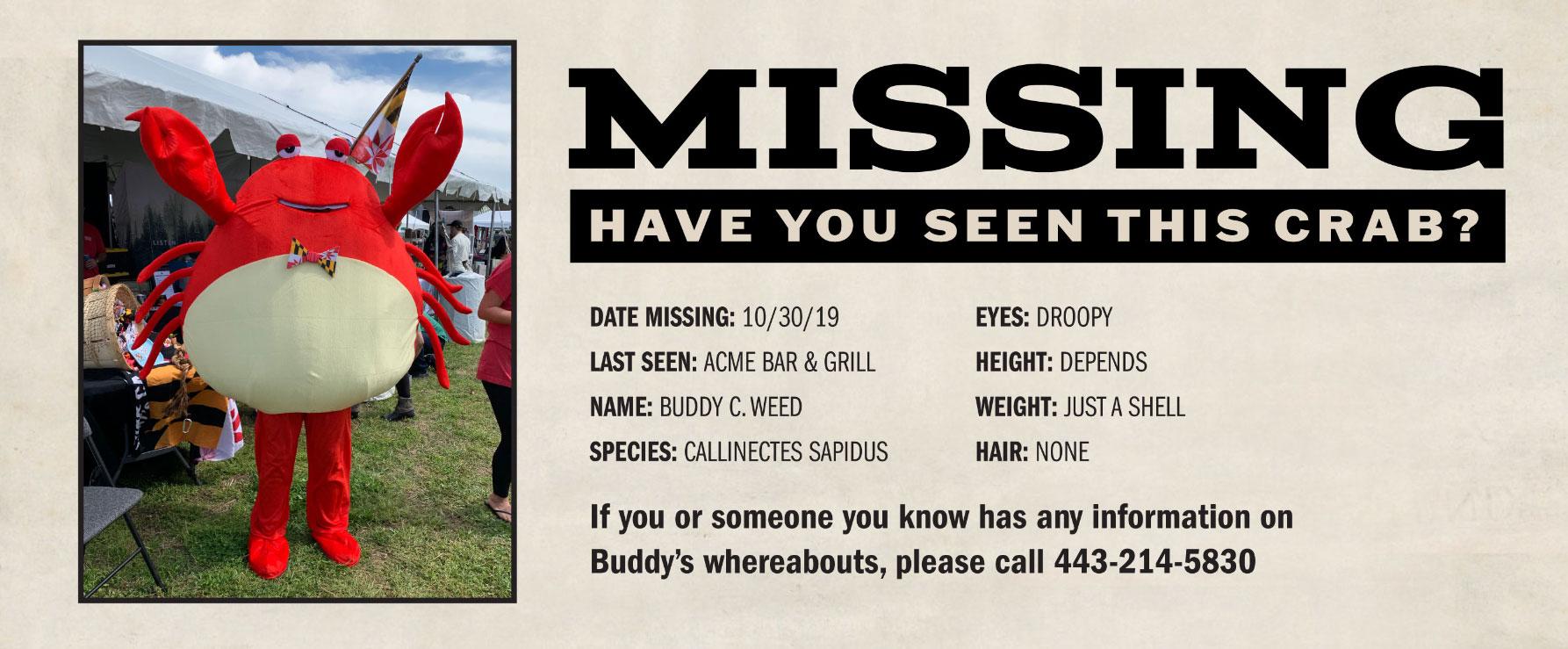 buddy-missing